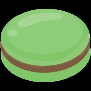 Macaron chocolat menthe